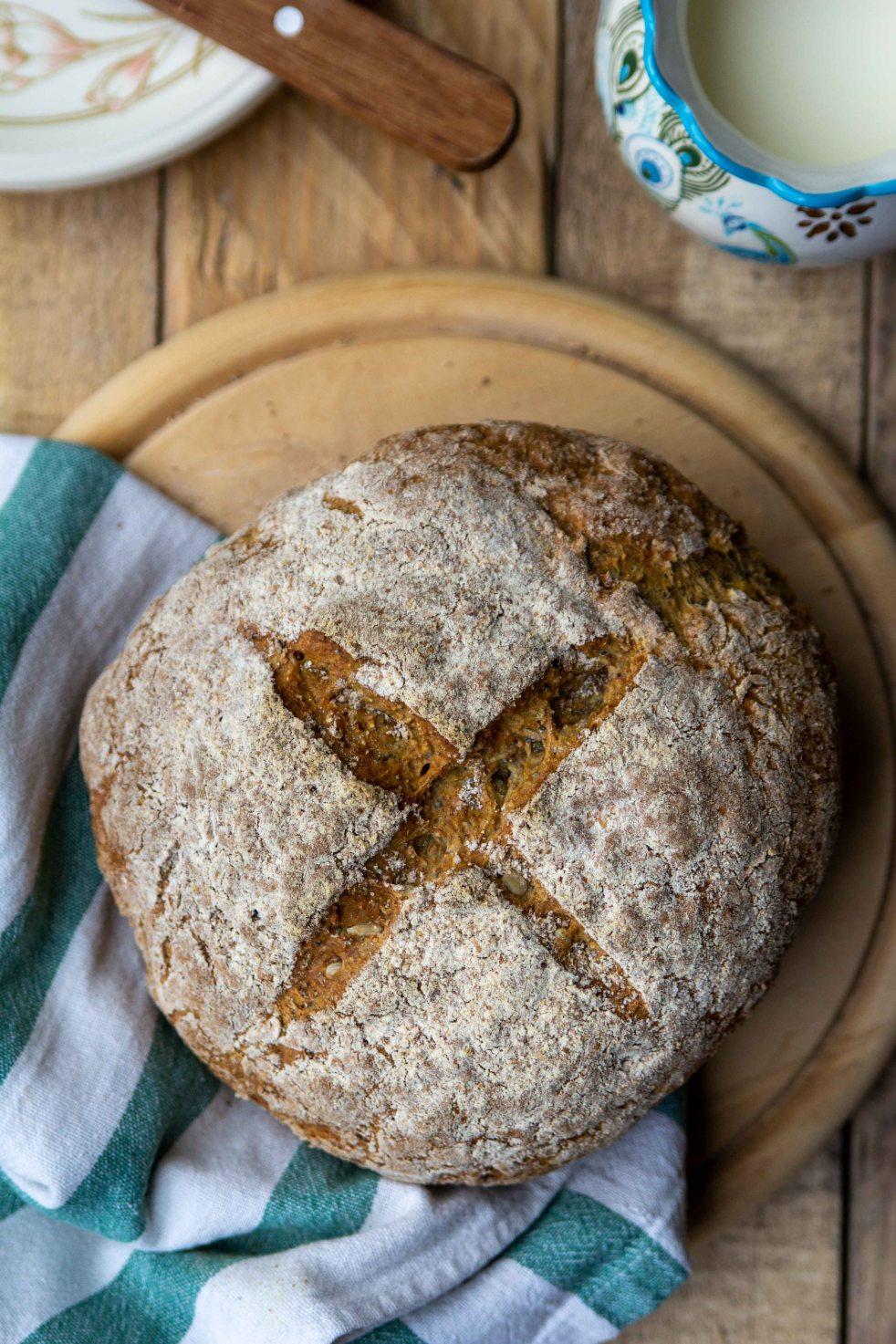 chleb bez drożdży na sodzie