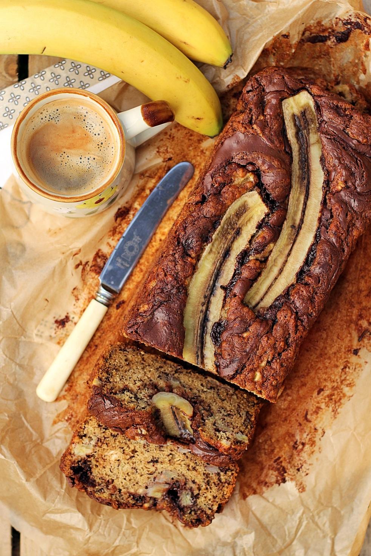 najlepsze ciasto bananowe z nutellą