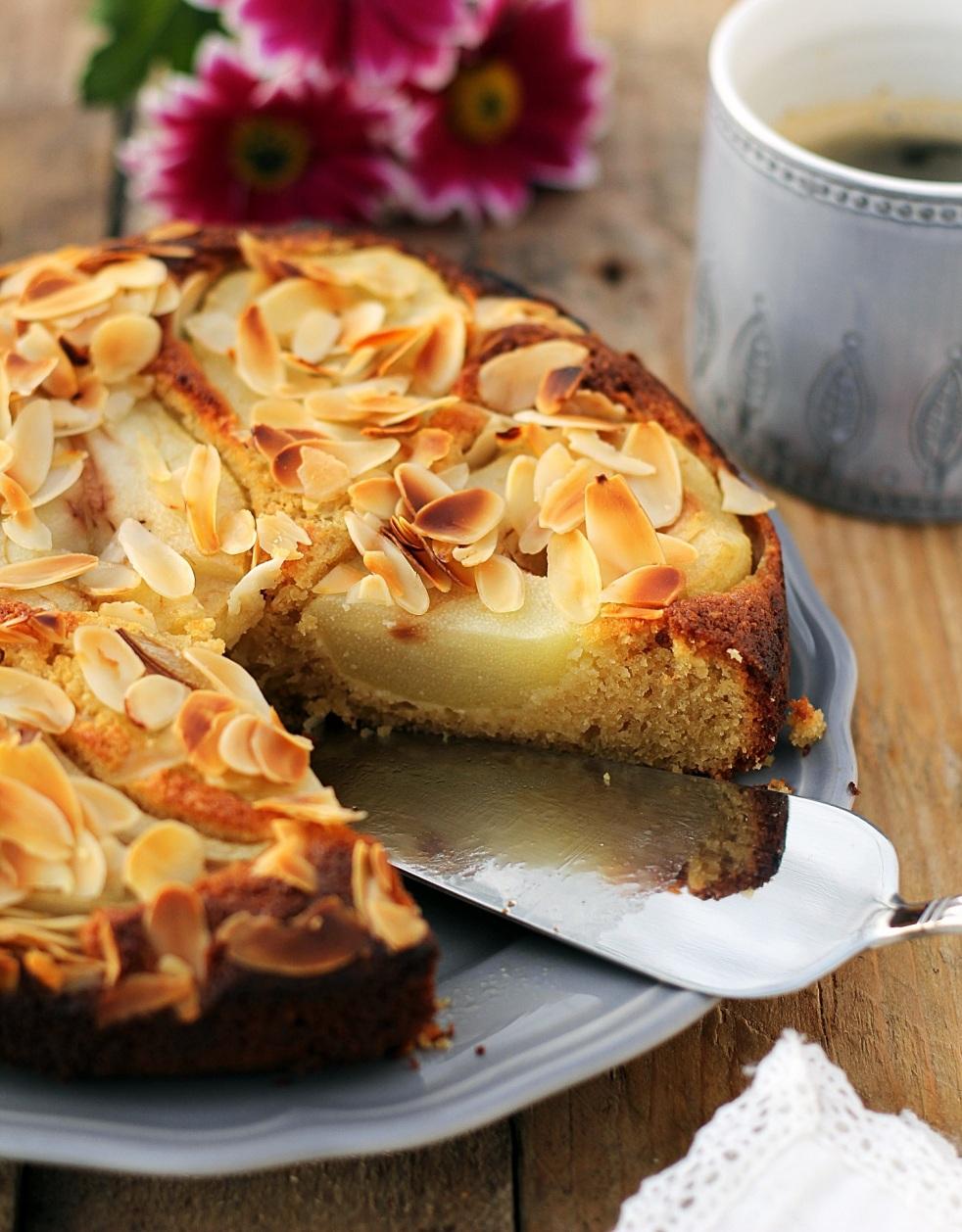 bezglutenowe ciasto z gruszkami
