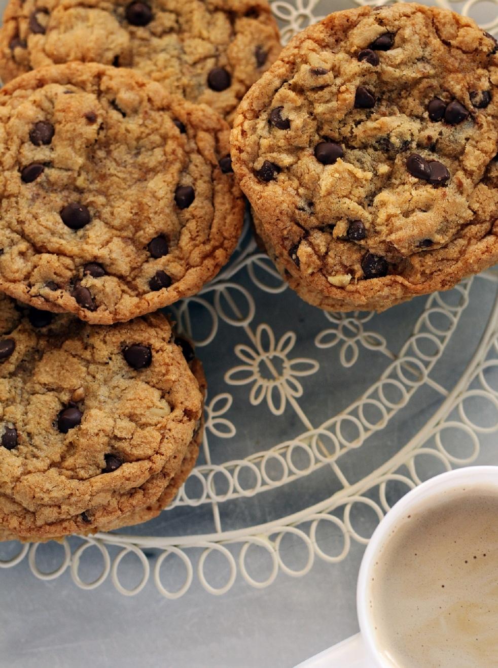 łatwe i szybkie ciasteczka z czekoladą bez miksera