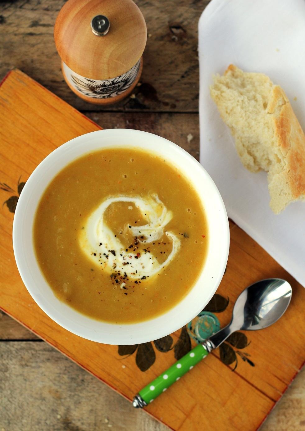 zupa porowo-ziemnaczana, zupa krem z ziemniaków, zupa z pora