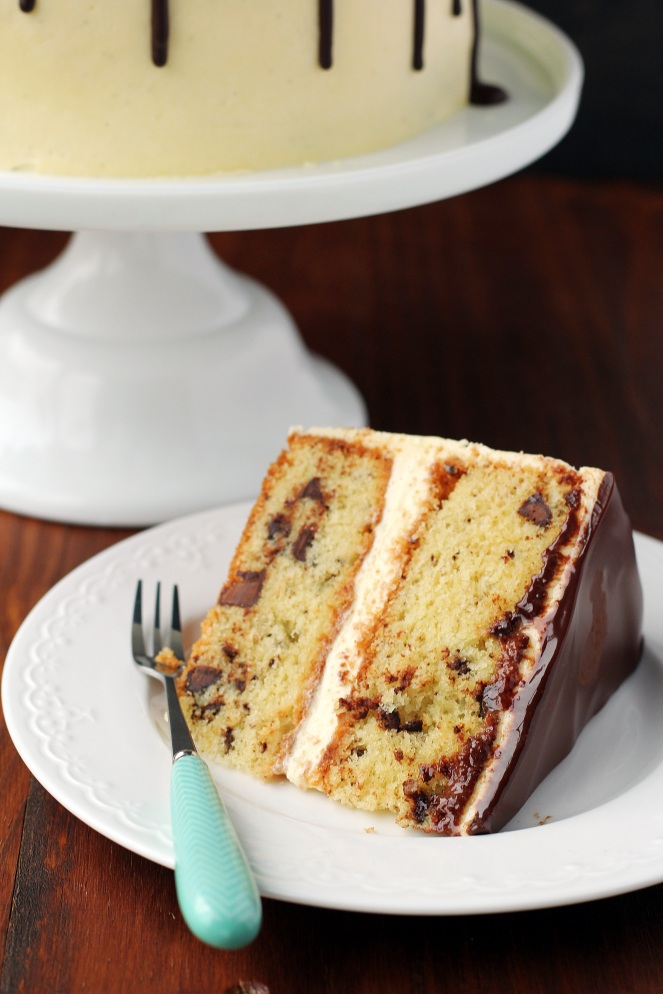 tort waniliowy z czekolada