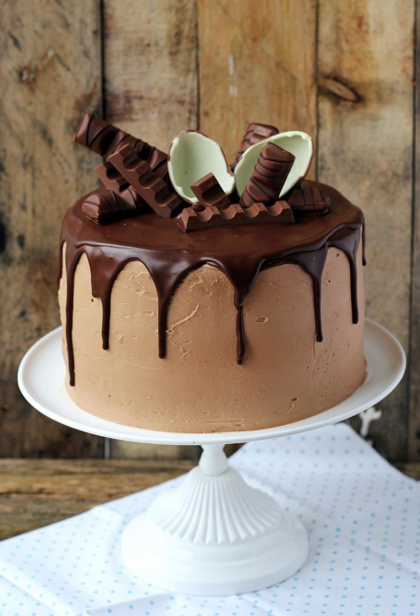 Tort potrójnie czekoladowy z kinder czekoladą...
