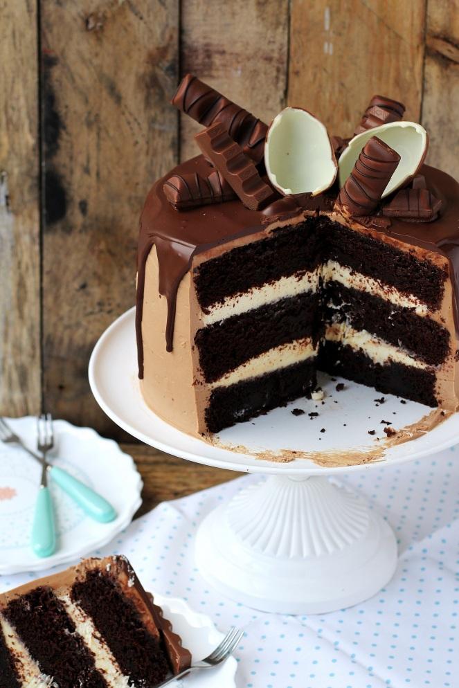 tort z czekoladkami kinder