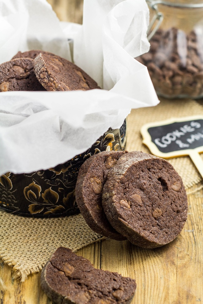 podwójnie czekoladowe kruche ciasteczka