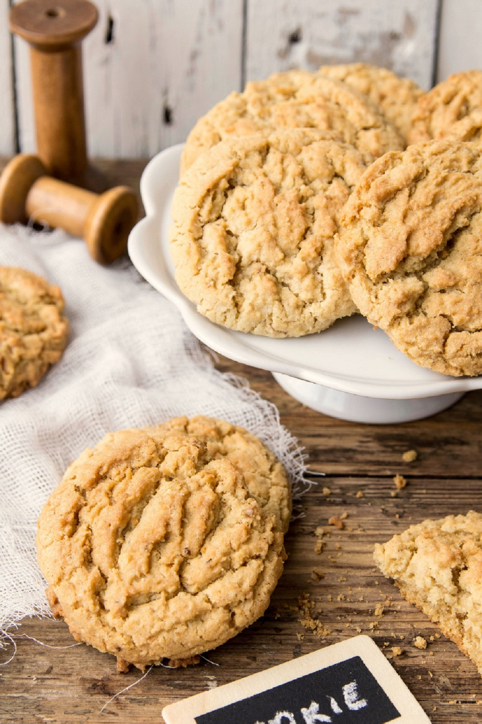 idealne ciasteczka owsiane z wiórkami kokosowymi