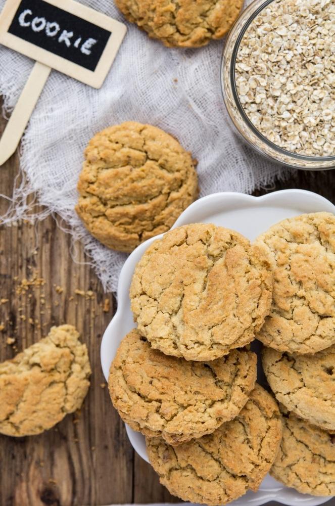 najlepsze ciasteczka owsiane z wiórkami kokosowymi